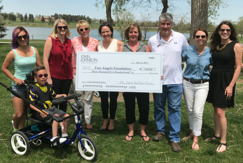 Etkin Johnson donates to Two Angels Foundation Colfax Relay 2017